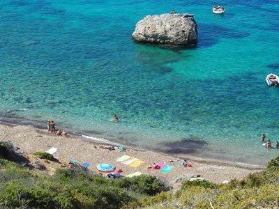Spiaggia di Pozzarelli all'Isola del Giglio