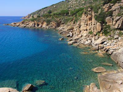 costa Isola del Giglio - Campeggi ed alberghi Isola del Giglio