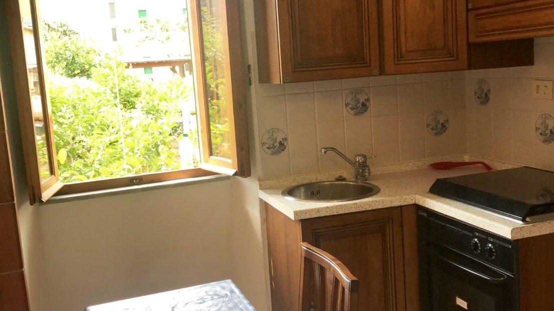 Angolo cucina presente all'interno del monolocale Argentino in affitto a Giglio Porto